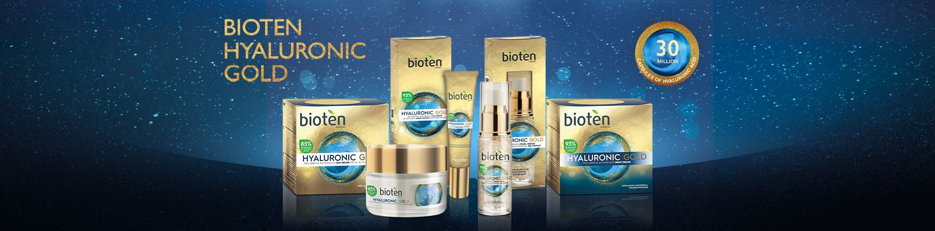 Hyaluronic Gold Face Care line. So that you look exactly like you feel!